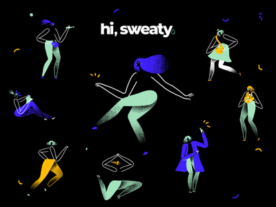 Hi, Sweaty art direction digital 2d illustration