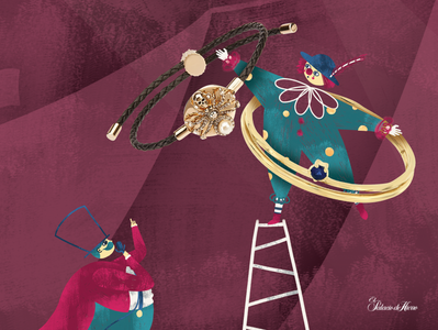 Circus art direction digital 2d editorial illustration illustration
