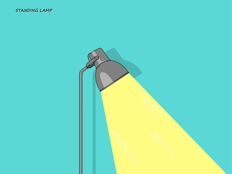 Standing Lamp vector flat illustration adobe illustrator design flat design