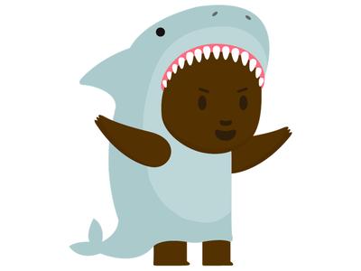 Shark Week Puck mascot flat vector illustration