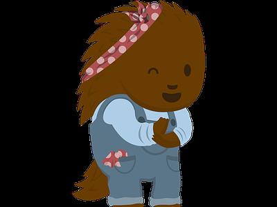 Labor Day Puck overalls hedgehog porcupine cute mascot flat vector illustration