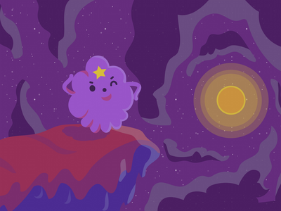 Lumpy Space Princess space sun cute purple vector illustration lsp lumpy space princess adventure time