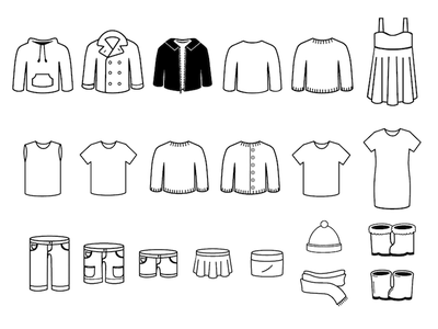 Clothing Icons linear icon clothing