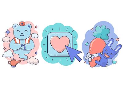 HappyFund cute animals illustration