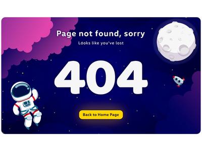 404 Page for #DailyUI space 404 error page 404page minimalism beautifului landingpagedesign landingpage illustration branding website flat web uidisign ui popular design minimal inspiration design dailyui
