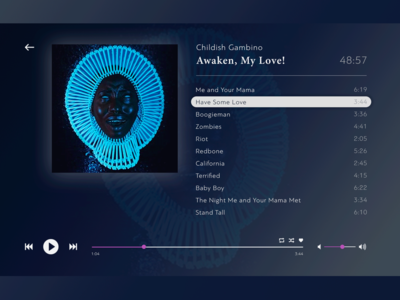 Music player for #DailyUI (009)