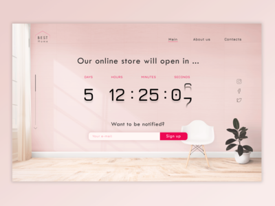 Countdown Timer for #DailyUI (014)