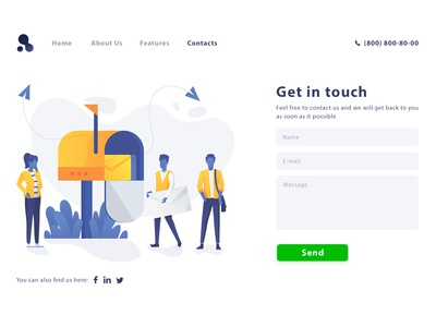 DailyUi#28 Contact Us page