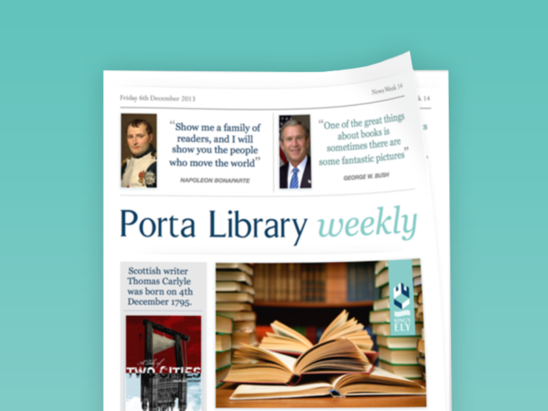 Porta Weekly  newsletter paper template
