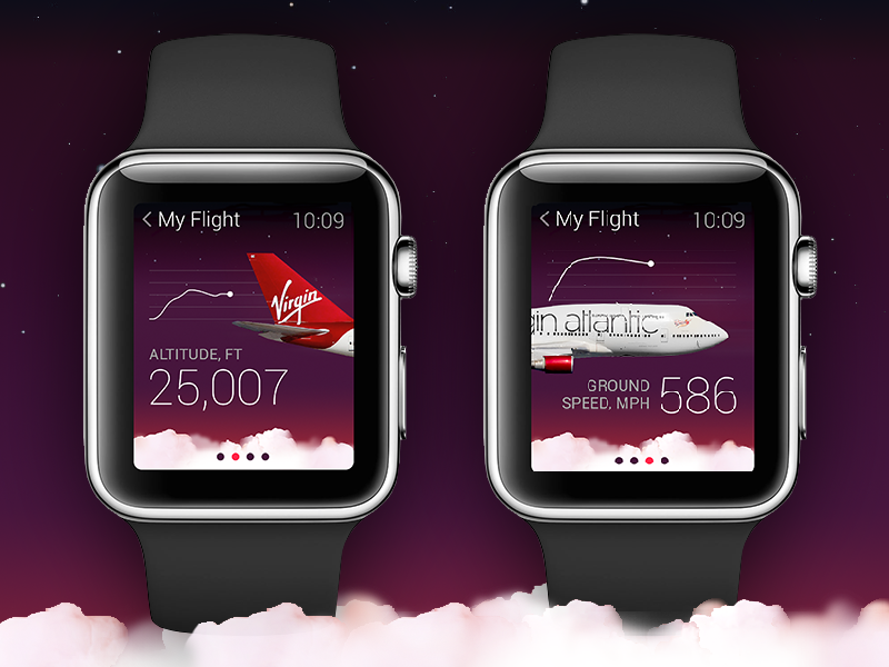 Apple Watch + Virgin Atlantic apple watch applewatch app mobile smartwatch virginatlantic virgin airline flight interface aircraft