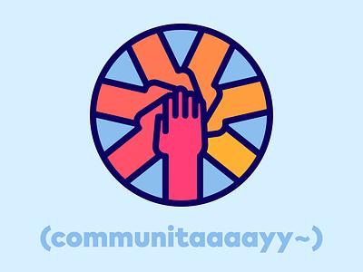 handstaxx gradient logo icon vector illustration flat 2d