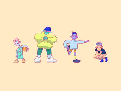 some dorx punx illustration photoshop character 2d character design