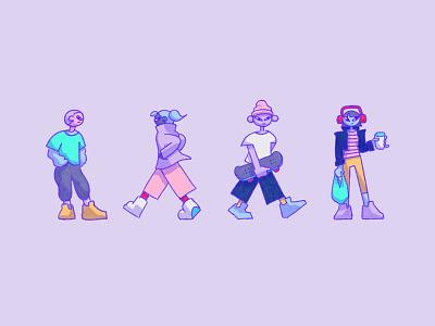 2 kewl 4 skewl illustrator photoshop 2 kewl 4 skewl so cool characters character design 2d