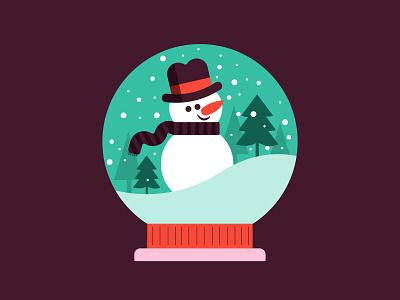 White Christmas branding love design illustration snow frosty tree holiday christmas snowman white christmas