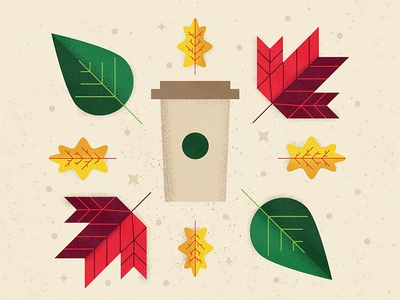 Fall is here! color leaves coffee drinks starbucks first autumn fall
