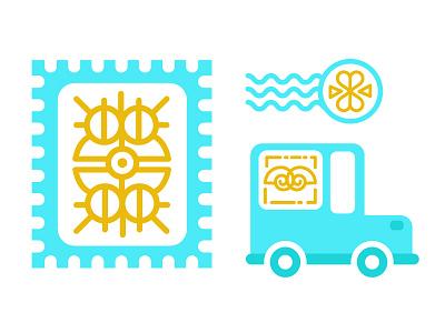 Snail Mail car stamp mail