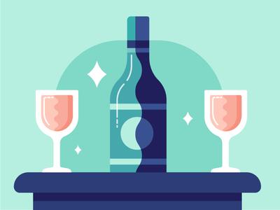Date Night wine night date dinner romantic glasses table sparkle