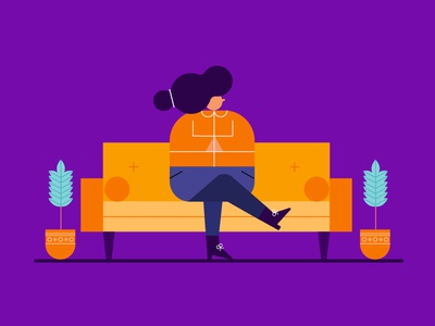 Day 2/100 100daychallenge couch lady plants potato