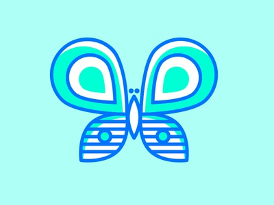 5/100 100days green blue outside flying line line art bug fly insect butterfly