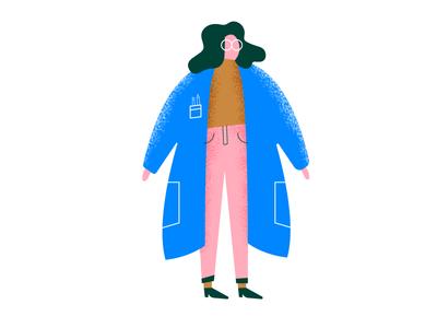 Big Betty lab hair glasses pink honey gal scientist lady