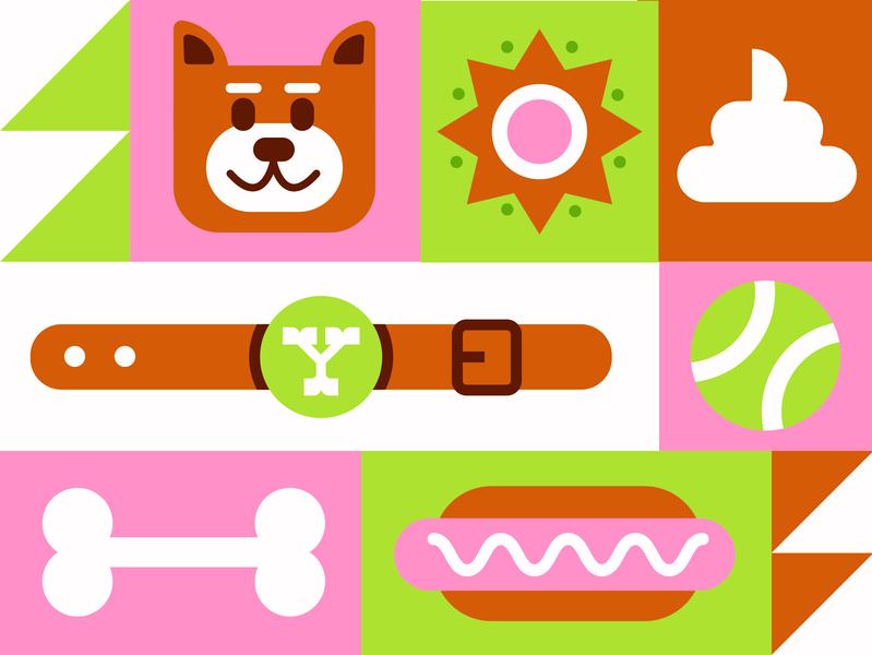 Yoshi best friend pal bud shiba inu shiba bone hot dog collar tennis ball poop sun dog doge