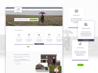 Financial advice website concept