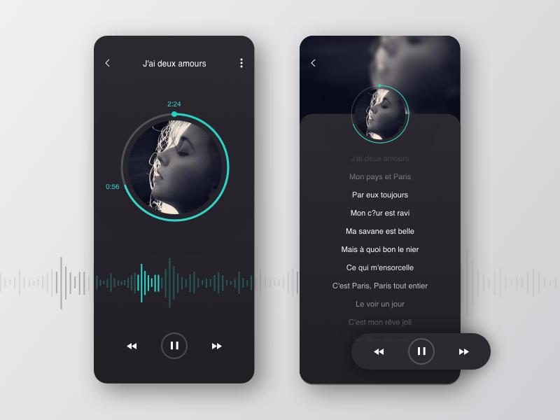 Music app ui ux design ui ux