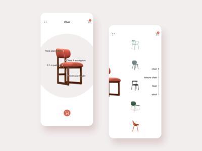 Minimalist furniture app
