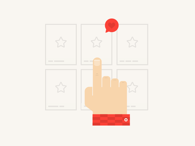 Hand selecting flat illustration web