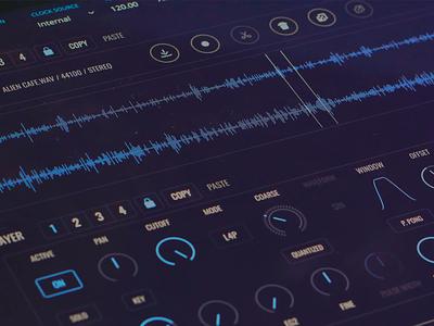 FRMS Granular Synthesizer music app music user interface uiux ux imaginando