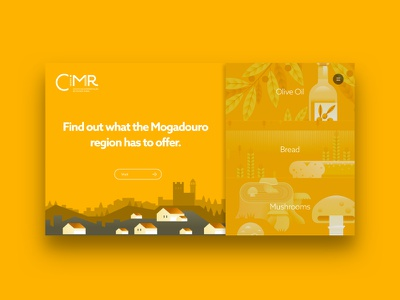 CIMR - Centro de Interpretação do Mundo Rural motion illustrations uidesign webdesign