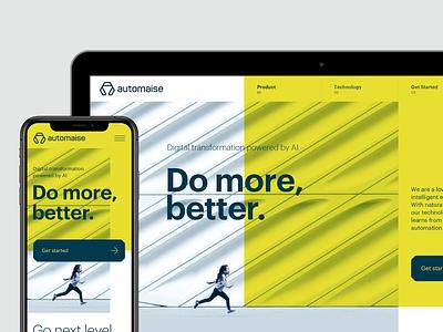 Automaise ux branding design ui logo web