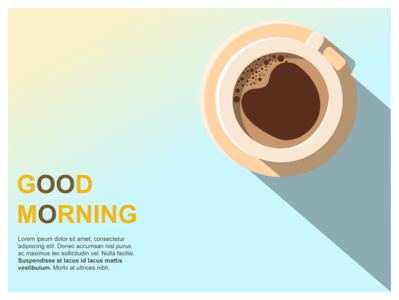 Good Morning graphic illustrator coffee morning vector poster web illustraion digital design