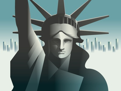4th of July statue liberty