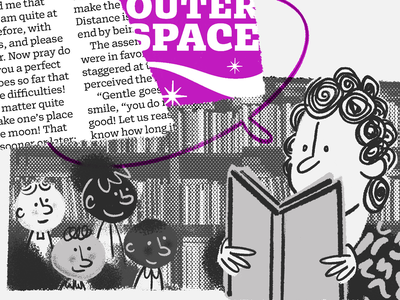 Books and posters children school kids teacher character design character procreate brushes lettermatic fonts editorial sketch messy bitmap halftone texture branding design type illustration