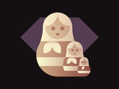 Nesting Dolls nesting dolls badge