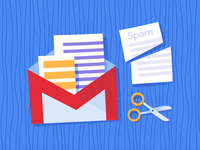 Gmailify spam onboarding wood paper scissors envelope mail gmail