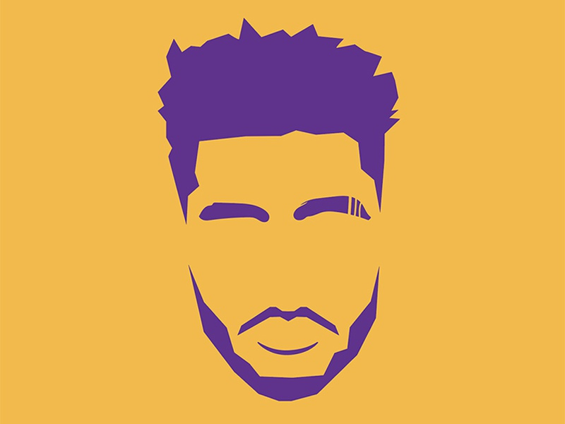 Showtime 3.0 logo dloading illustration portrait vector icon russell nab basketball showtime lakers