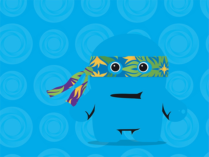 This Guy pattern blue came face mask animation cartoon flat creature character vector