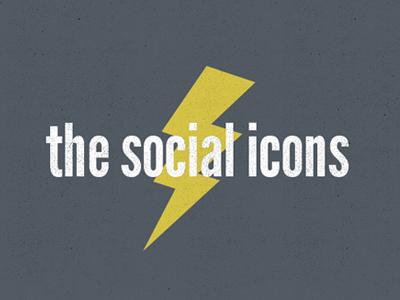 Thesocialicons logo lightning identity social icons
