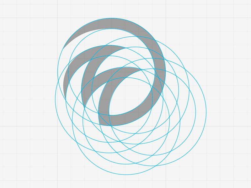 Logo with Guides logo guides waves circles circular logo design layout comp
