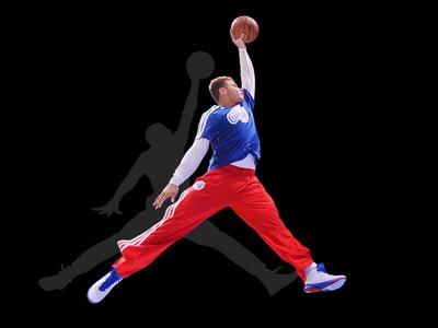 Air Griffin clippers basketball jordan nike air dunk symmetry old school