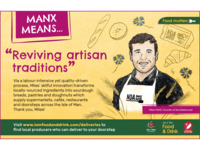 'manx means' illustrated ad campaign isle of man local print ad bakery drawing food portrait illustration