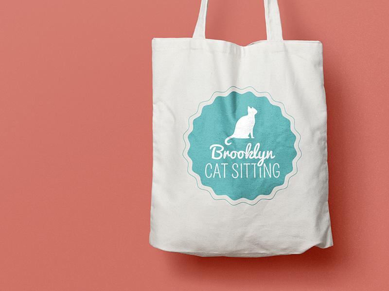 an old favorite. branding brand identity stamp badge illustrator graphic design logo tote bag cats cat sitting brooklyn