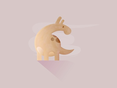 Dino pastel colors animal vector minimalistic illustration