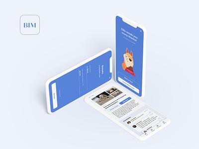 BIM_first look shelter non-profit charity app minimalistic ui
