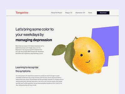 Tangerine_depression 101 animation branding illustration landing landing page desktop web design minimalistic ui