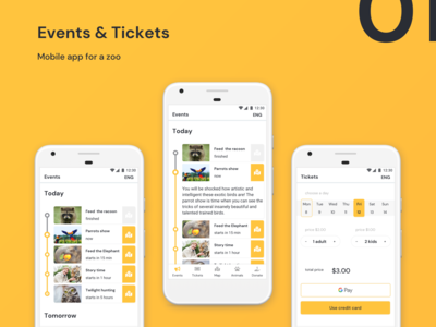 Zoo Mobile App UI