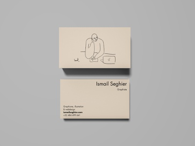 Simple business cards mockup stationery abstract character design fresh details stylized digital art business cards