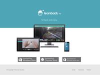 Leanback TV Landing Page